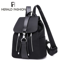 $enCountryForm.capitalKeyWord Australia - Herald Fashion Women Backpack Nylon Backpack For Teenage Girls Casual School Daypack Large Capacity Shoulder Bags Female Mochila Y19061102