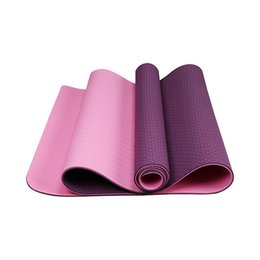 anti skid mats NZ - TPE 6MM Yoga Mat 183 x 61cm NBR Multifunction Anti-skid Nonslip Gym Pilate Eco Yoga Mat with Storage Bag Fitness Supplies In Stock