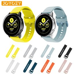 banded gear Australia - Joyozy Gear Sport strap For Samsung gear sport s2 band 20mm 8 colors to choose from silicone Samsung galaxy watch