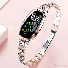 $enCountryForm.capitalKeyWord Australia - H8 Smart Bluetooth Luxury Bracelet Women's Health Fashion Bracelet Jewelry Watch Heart Rate Blood Pressure Monitor Sports Step