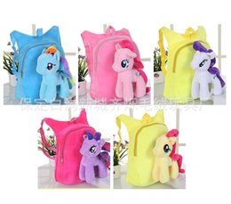 Discount doll milk - 30cm Baby Unicorn Storage Bags Plush Pure Color Lovely Doll School Bag Child Both Shoulders Backpack 19qs E1
