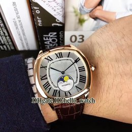$enCountryForm.capitalKeyWord Australia - Cheap New Diver De Rose Gold Case White Dial WGNM0008 Moon Phase Automatic Mens Watch Brown Leather Strap High Quality Watches Hello_watch
