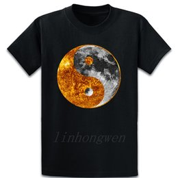 chinese design shirts NZ - Yin Yang Suns Moon Chinese Tai Chi Symbol Graphic T Shirt Pattern Anti-Wrinkle Building Designing Tee Shirt Gents Crew Neck