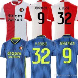 Thailand Shirts Australia - new 19 20 Feyenoord soccer jersey home AWAY thailand QUALITY 19 20 V.PERSIE BERGHUIS VILHENA JORGENSEN 19 20 FEYENOORD JERSEY ADULT SHIRT