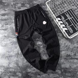 19ss Recién llegado Mengkou MC París Pantalones pista elástica cintura Pantalones Hombres Moda deporte Jogger Pantalones deportivos pantalones al aire libre en venta