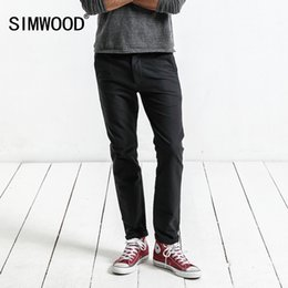 simwood clothing 2019 - SIMWOOD Brand Pants 2019 autumn Casual Pants Men Fashion Slim Fit Trousers Men High Quality Plus Size Clothing XC017018