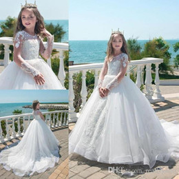 Cheap Green Tutus Australia - Sequined And Tulle Girls Pageant Gowns Tutu Skirt Flower Girl Dresses For Wedding Cheap Baby Party Dress