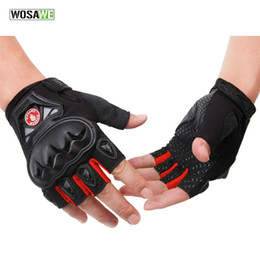 finger bike skateboard 2019 - WOSAWE Men Women Cycling Gloves Half Finger Gel Road Mtb Bicycle Gloves Skateboard Sport Bike Cycling Equipment #299310