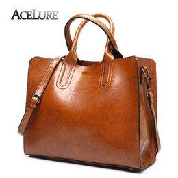 Simple Handbags For Ladies NZ - ACELURE Women Shoulder Bag Simple Handbags Famous Brands Big Trunk Tote Vintage Ladies crossbody bags for women handbags Y190606