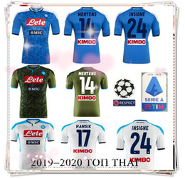 Uniform shirts for men online shopping - 2019 Serie A Naples Napoli home soccer jerseys Napoli blue football Shirts for men HAMSIK L INSIGNE PLAYER football uniform