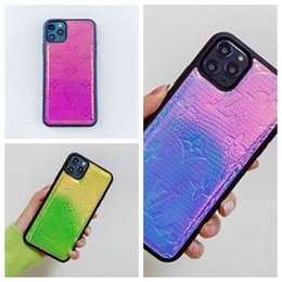 phone case trends 2020 - Fashion trend two-color imprint skin sticking phone case for iphone 6 6s 7 8 8plus for iphone x xr xs max for iphone 11