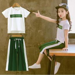 $enCountryForm.capitalKeyWord Australia - jimmybaby New Girls Clothing Sets Summer Short Sleeve T-Shirt+Pants 2 Pcs Kids Outwear Children Clothes Suits