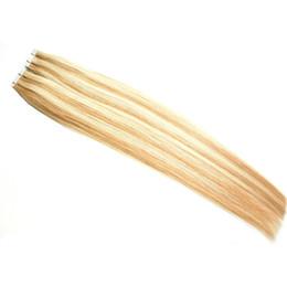 $enCountryForm.capitalKeyWord UK - blonde Tape In Human Hair Extensions 100g Double Drawn European Remy Hair Extensions 40 Pieces Tape on Extensions