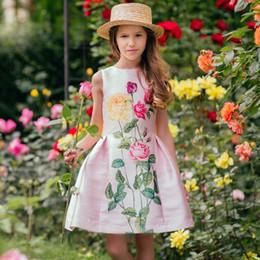 Children Toddler NZ - Toddler Girl Dresses with Sashes 2019 Girls Summer Dress Children Flower Princess Party Dress for Girls Clothes Kids Costume