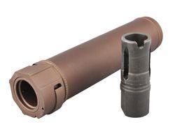 Großhandel QD Silence Modell W / Flash Hider Muzzle Brake Toy Modell für Airsoft M4 AEG GBB CNC Prozess Anodic Oxidation
