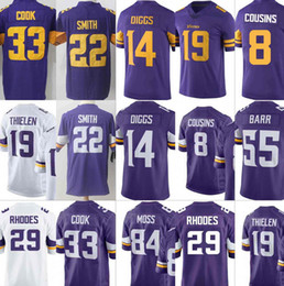 Men s Minnesota 8 Kirk Cousins 19 Adam Thielen 14 Stefon Diggs Vikings  Jersey Harrison Smith 55 Anthony Barr 33 Dalvin Cook Jerseys S-XXXL01 ab2dda825