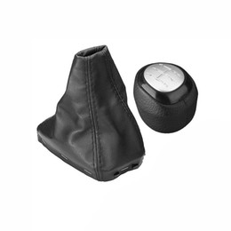 Speed Levers Australia - 5 6 Speed Car Gear Shift Knob Shifter Lever Leather Gaiter Boot Cover For 9-3 2003-2012 Manual Transmission