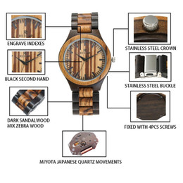 Wooden Gift Tags Australia - High-quality fashion brands ebony and zebra wooden watches all styles of watches can be customized for men's best gifts