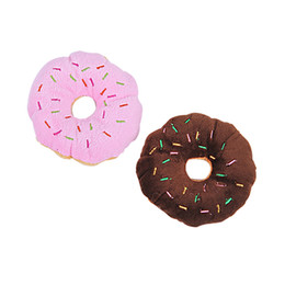 $enCountryForm.capitalKeyWord Australia - 13Cm Sightly Pet Chew Cotton Donut Play Toys Lovely Pet Dog Puppy Cat Tugging Chew Squeaker Quack Sound Toy Chew Donut Play Toys