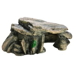 landscape stones rocks NZ - 1PC Aquarium Stone Hiding Cave Rock Decoration Artificial Fish Tank Rock Cave Stones Turtle Landscape Ornaments Accessories