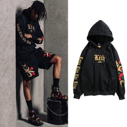 $enCountryForm.capitalKeyWord NZ - 2019 Street Hip-hop Men And Women Embroidery Black Gold Sweater White Gold: War In Paradise Rose Even Sweater Hoodie Hat Loose Coat