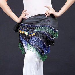 $enCountryForm.capitalKeyWord Australia - Hot Sale Tribal Belly Dance Belts 2 Colors Women Tassel Hip Scarf Beads Coins Triangular Scarves Belly Dance Belt Coin