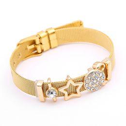 $enCountryForm.capitalKeyWord Australia - New fashion stainless steel bracelet Europe and the United States trend DIY star accessories bracelet jewelry wholesale