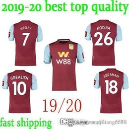 soccer aston villa UK - best quality Aston villa Soccer Jerseys Wesley JOTA 2019 2020 KODJIA Football Shirt HOGAN Jersey GREALISH Soccer Shirt MINGS