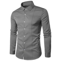 Design Red Shirt Australia - Brand White Men Shirt Long Sleeve Chemise Homme 2019 Fashion Business Design Mens Slim Dress Shirts Casual Camisa Social