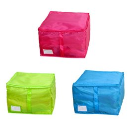 Discount clothing sizes japan - High Quality 2019Small Size Clothing Storage Boxes Quilts Sorting Pouch Underwear Socks OrganizerHot Sale 16#