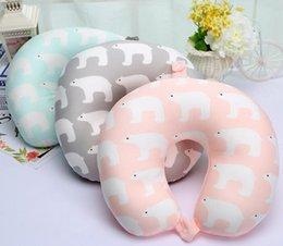 travel pillows for airplanes NZ - Newest Polar Bear U Type Travel Pillow For Neck Fashion Soft Healthy Neck Cushion Airplane Driving Home Decoration GA634