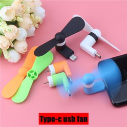 usb fan for phone UK - Mini Type-c USB Fan Flexible Cool Hand Fans For Xiaomi4c 5 5s 6 HuaweiP9 10 Type C Jack Interface Mobile Phone Fans USB Gadget