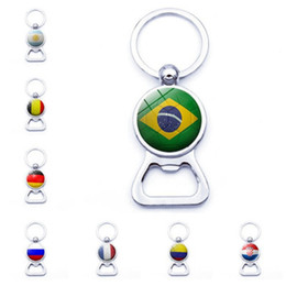 2e9723f3a2a World cup soccer bottle opener keyring Argentina Brazil Russian 8 country  flag key chain accept custom