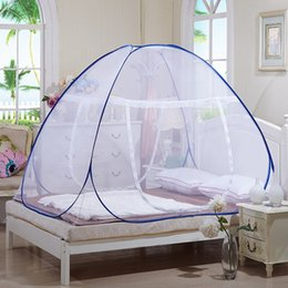 Wholesale China polyester cm portable folding Pop up bed mosquito net mongolia mosquito net encrypted for doors