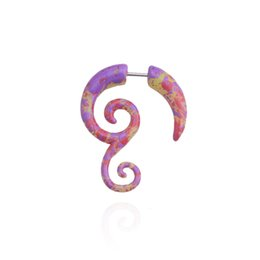 $enCountryForm.capitalKeyWord Australia - MODRSA 3pcs Spiral Taper Snail Earring Expanders Colorful Acrylic Body Jewelry Faux Ear Plugs and Tunnels Fake Septum Piercing