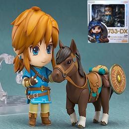Link Action Figures Australia - 14cm The Legend Of Zelda 733-dx Nendoroid Link Zelda Figure Breath Of The Wild Pvc Action Figures Toy Anime Figure Toys For Kids