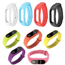 Wholesale Colorful Silicone Wrist Strap Belt Bracelet Alternative Accessories for Miband Xiaomi Mi Band LL