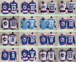 1f6a3f1fcd5 Winnipeg Jets Winter Classic Men Jersey #27 Teppo Numminen 9 Bobby Hull 13  Teemu Selanne 16 Laurie Boschman Ice Hockey 8 SELANNE Jerseys
