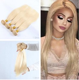 "16 22 inch weaves style Australia - 8A Hot Blonde Hair Extensions Color #613 Straight Style Color Blonde Brazilian Human Hair Bundles 4 Bundles 8""-30"" Straight Hair Weaves"
