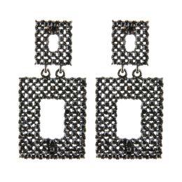 $enCountryForm.capitalKeyWord Australia - Brandjewelryyy Drop bright rhinestone inlaid zinc alloy earrings square pendant earrings charm brand big brand Brinco Christmas ear jewelry
