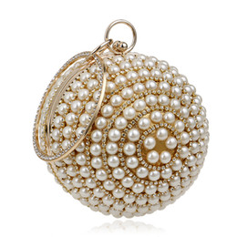 mse model 2019 - Factory direct cross-border surplus power explosion models pearl handbag Ms. European and American fashion spherical eve
