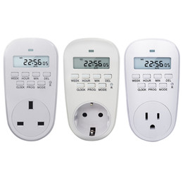 eu smart plug Australia - 230VAdjustable Programmable Setting of Clock  On  Off Time Digital Timer Switch Energy Saving Smart Power Socket EU  US  UK Plug