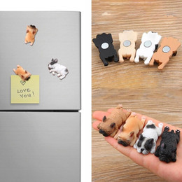 magnet cartoon Australia - New Cute Small French Bulldogs Magnets Sleeping Series Chai Dog DIY Doll Magnetic Stickers Cartoon Mini Toys Doll For Fridge Decoration