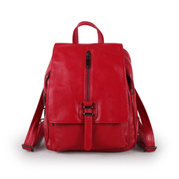 $enCountryForm.capitalKeyWord Australia - Lovely2019 Leather Genuine Woman Baotou Layer Cowhide Litchi Grain Both Shoulders Package Trend Ma'am Backpack Will Capacity A Bag
