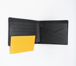 $enCountryForm.capitalKeyWord NZ - Paris plaid style Designer mens wallet famous men luxury wallets special canvas multiple short small bifold wallet purse with box