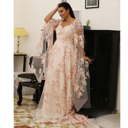 $enCountryForm.capitalKeyWord Australia - Fabulous Lace Plus Size Prom Dresses Scoop Neck Long Sleeves Evening Gowns Sweep Train A Line Formal Dress