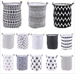 toy laundry baskets Australia - Laundry Storage Basket Ins Dity Clothes Storage Bag Foldable Printed Home Sundries Storage Barrel Waterproof Kids Toys Organizer Totes B6655