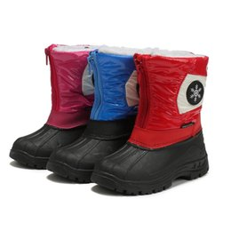waterproof snow boots boys Australia - Winter Baby Snow Boots for Girls Boy 2019 New Leather Children Boots Warm Waterproof Boys Girls Thickened Cotton Shoes