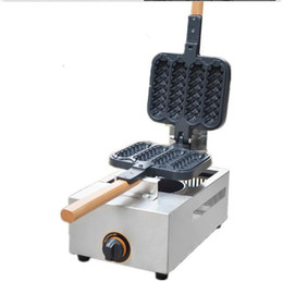 Chinese  Commercial USE Non-stick Gas LPG Lolly Waffle Maker Baking Machine 4pcs time manufacturers