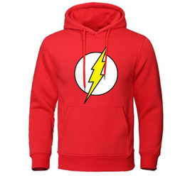 Wholesale flash pullover for sale – custom Men s Hoodies The Flash Print Male Sweatshirts Casual Men Pullover Tracksuit Autumn Streetwear Long Sleeve Tops